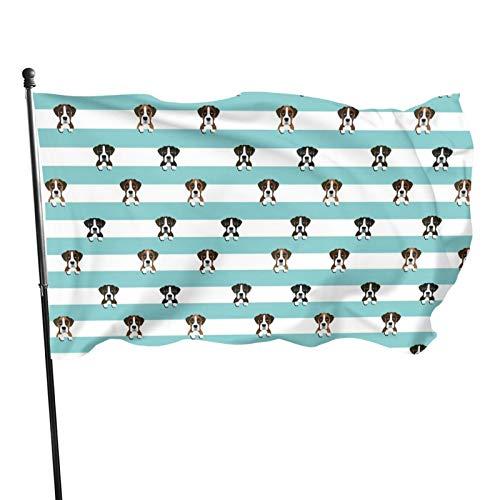 Bandera de jardín para exteriores con ojales de latón, diseño de rayas de perro, bandera de mosca para decoración interior del hogar