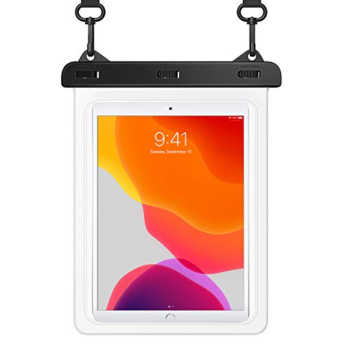 HeySplash Universal Waterproof Tablet Case, Underwater Tablet Dry Bag with Lanyard Compatible with New iPad 10.2', iPad Air 10.5', Galaxy Tab E, Tab S3, Fire HD 8, Fire 7, Up to 10.5' - Clear