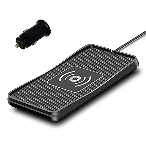 Wireless Charger car Wireless Charging pad Wireless qi Phone Charging Charger pad for car Fast Wireless car Charger Wireless Phone Charger Charging Station 10W Thin Galaxy Note10/S10/S9/S8(C3)