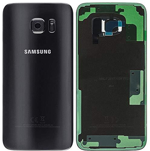 Original Tapa para batería para Samsung Galaxy S7 Edge G935F Negro Tapa Trasera Tapa de batería/Lente de la cámara/lámina Adhesiva/de Herramientas