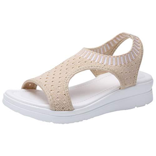 Innerternet Damen Damen Atmungsaktiv Komfort Aushöhlen Lässige Wedges Tuch Schuhe Sandalen Sport- & Outdoor Sandalen Plus Größe 35-45