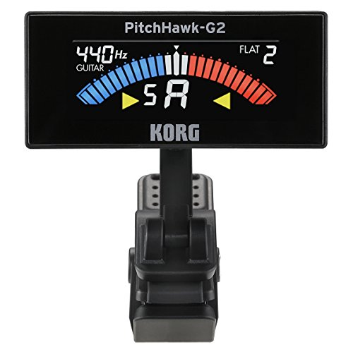 KORG AW-3G2-BK PitchHawk-G2 Clip-On Tuner (Guitar/Bass), black