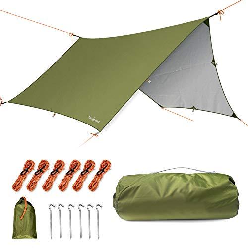 Unigear Toldo Camping Impermeable Lona Suelo Protector Aolar Anti-Viento 350*290cm/ 350*290cmToldos para Playa Tienda Hamaca Acampada Refugio Al Aire Libre