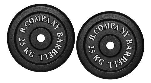 Bad Company Hantelscheiben aus Gusseisen I Gewichtsscheiben 30/31 mm für das Hanteltraining I 50 kg (2 x 25 kg)