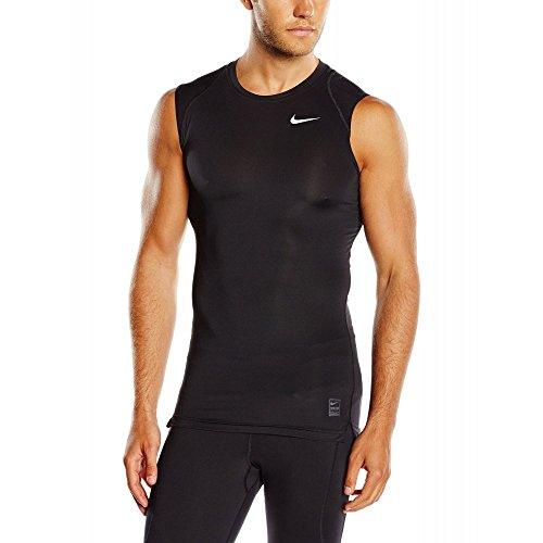 Nike Herren Unterhemd COOL COMP SL T-Shirt, Black/Dark Grey/White, S