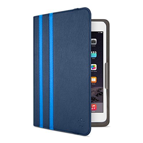 Belkin F7N324btC02 - Funda Twin Stripes para iPad Mini 4, Azul Marino
