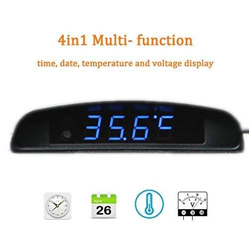 BOOMBOOST 4In1 Auto Datum Uhr Voltmeter Thermometer Spannung Monitor 12 V Original Auto Innen Außen Mehrfunktion