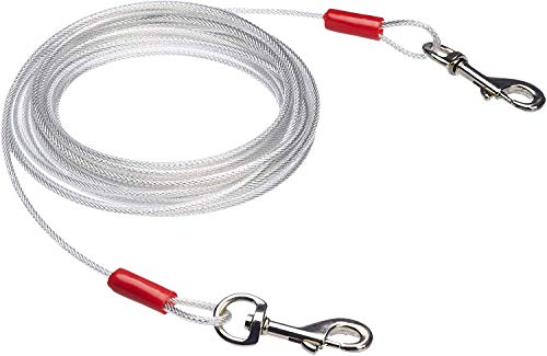 AmazonBasics Tie-Out Cable for Dogs up to 90lbs, 25 Feet