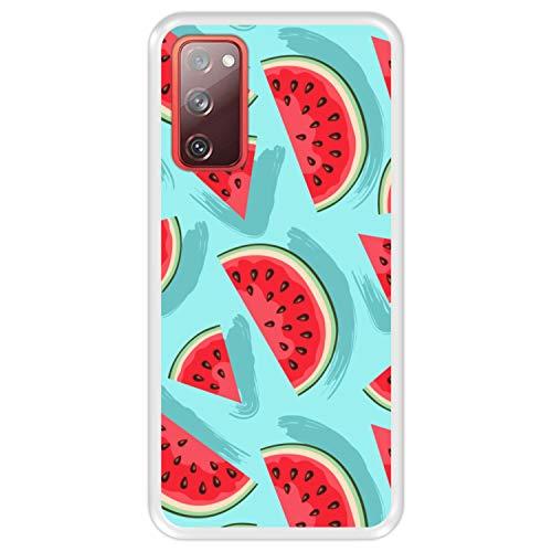Hapdey silikon Hülle für [ Samsung Galaxy S20 FE - S20 FE 5G ] Design [ Muster, Wassermelonenscheiben ] Transparenz Flexibles TPU