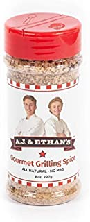 A.J. & Ethan's Gourmet Grilling Spice, Food Seasoning and Rub, Keto and Paleo Friendly, Better on Everything, 8 ounce