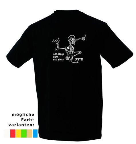 Kreativ-Shop! Geocaching-T-Shirt Sklett & DNF | Frontdruck | Größe: XL | Folienfarbe: weiß