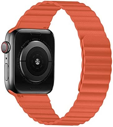 VeryBet Unique Designed Leather Band Compatible for Apple Watch Series 5 44mm 42mm Adjustable product image