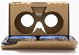 Complete Google Cardboard V2 Version 2 Kit Virtual Reality (VR) 3D Glasses VR Box for iPhone and Android - With Free Head ...