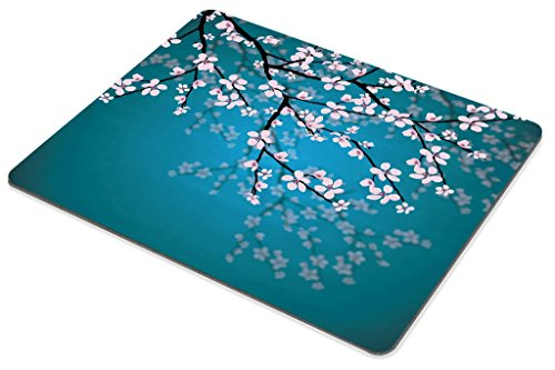 Smooffly Sakura Mouse Pad,Leaves and Plants Ombre Spring Japanese Sakura Flowers in Garden Park Gaming Mouse Pad Photo #4