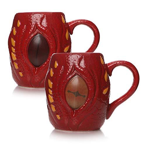 Half Moon Bay MUGBHBT01 Taza de desayuno 3D termocolora The Hobbit Smaug, cerámica