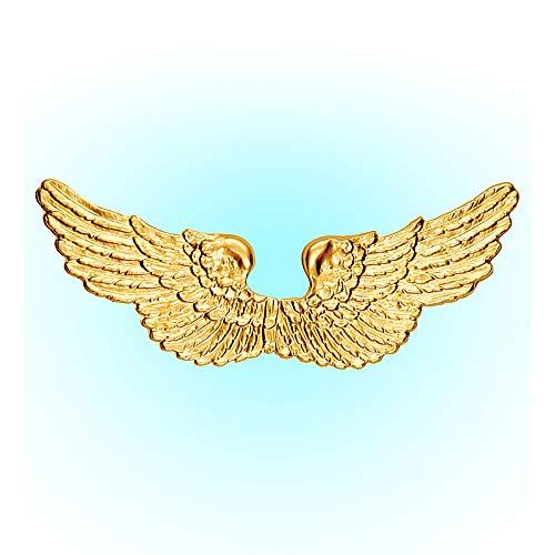 Widmann 2037P - Engelsflügel, gold, für Kinder, aus Kunststoff, Unisex, Engel, Krippenspiel, Weihnachten, Kostüm, Fasching, Karneval, Mottoparty