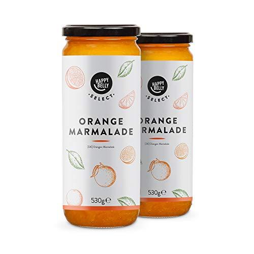 Marca Amazon - Happy Belly Select Mermelada con 75% de naranja, 2 unidades de 530g