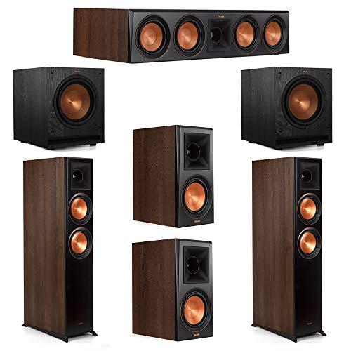 Find Bargain Klipsch 5.2 Walnut System 2 RP-6000F Floorstanding Speakers, 1 Klipsch RP-404C Center S...