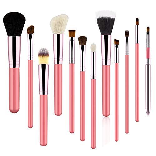 TOOGOO 12 PièCes Ensemble de Pinceaux de Maquillage Visage Yeux LèVre Fard à PaupièRes Pinceau à Sourcils Poudre Pinceau Outils Outils CosméTiques