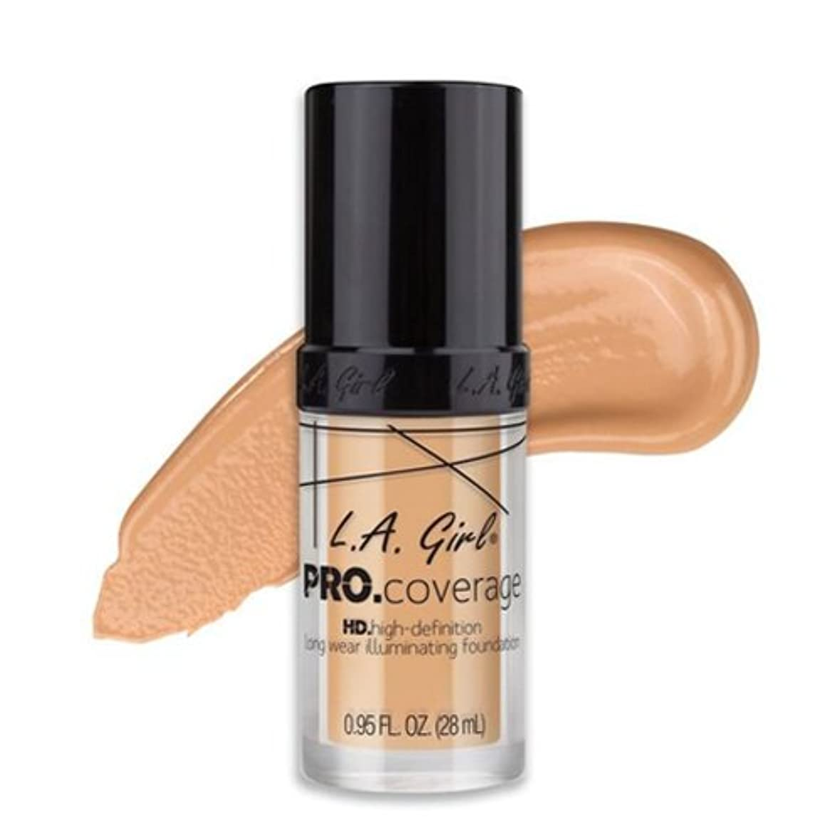 リーダーシップ牽引砦(3 Pack) L.A. Girl Pro Coverage Illuminating Foundation - Fair (並行輸入品)