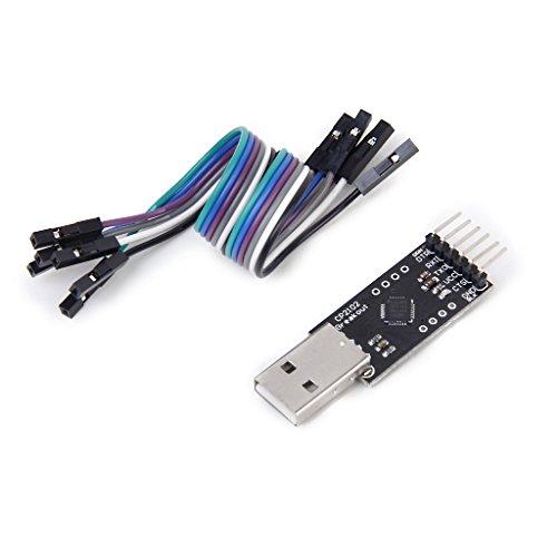 アダプター シリアル変換 コンバーター USB→TTL CP2102モジュール