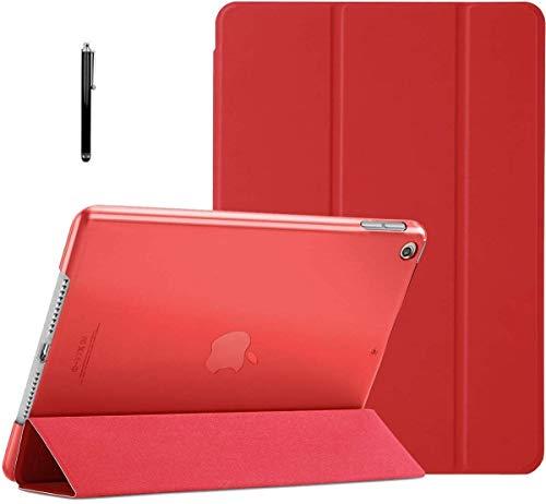 ProElite Smart Flip Case Cover for Apple iPad 10.2″ 9th Gen (2021) / 8th Gen / 7th Gen with Stylus Pen, Red