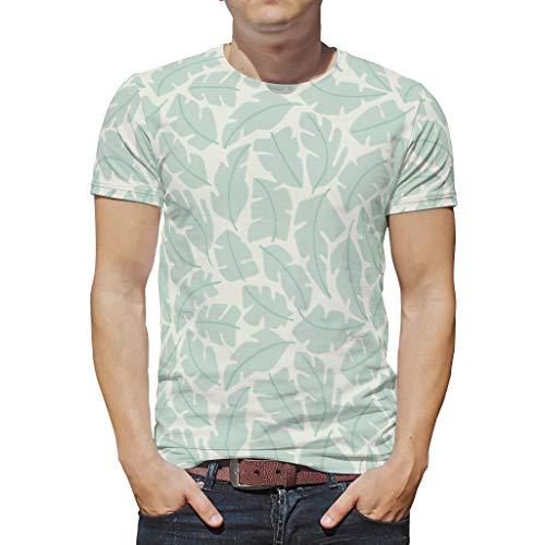 Pflanzen Sie grünen Blumengras-Baumvogel Cool Bunt Vintage T-Shirt für Männer und Frauen White m