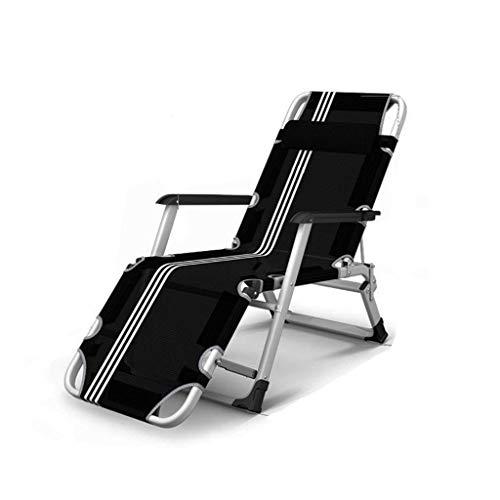 Portable Zonnestoel Chair oldable Zero Gravity, Recliner ligstoelen Waterproo Chaise Lounge Deckchairs Metal of Garden Patio urniture Outdoor voice, Zwart, zhihao