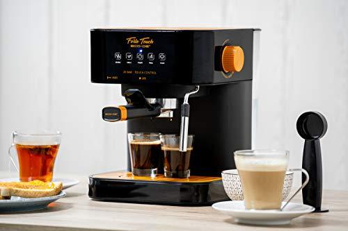 ECODE Cafetière Espresso Forte Touch, 20 bars, écran tactile, structure en acier inoxydable, embout en mousse Capuccinatore, 1,6 litre, Express, 1050 Watts ECO-420