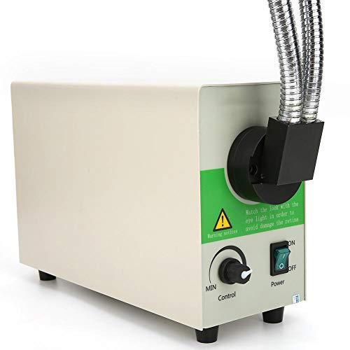Niedriger Energieverbrauch Mikroskop Lichtquelle Kaltlichtquelle Doppelhartes Rohr Faseroptische kleine Größe mit Lüfterkühlsystem für Mikroskop(European standard 85~265V)