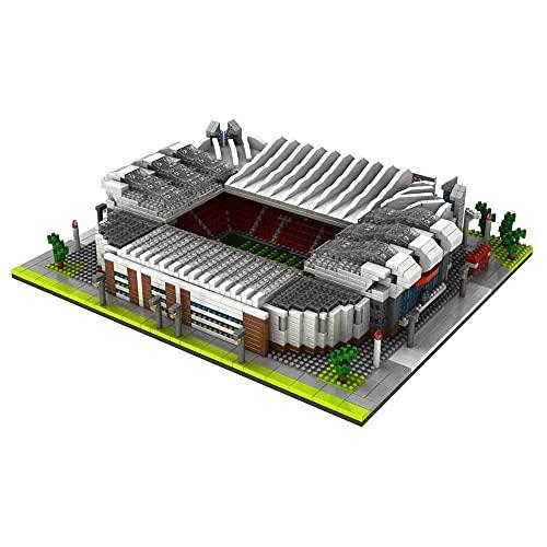 WDDWYHLL Serie de Campos de fútbol de fama Mundial 3800 Piezas Nano Mini Kits de Bloques de construcción Construcción Infantil Juguetes educativos de Bricolaje Regalos (Old Trafford