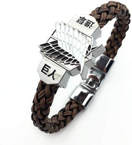 Anime fan,Anime gift,cosplay gifts,Attack on Titan Bracelet,SRTR-4534 Japanese Anime Braid Wristband for Men and Women