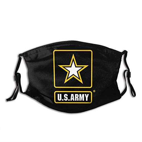 United States Army Retired Veteran-Face Mask, Dust Filter-Comfortable-Breathable-Washable,Unisex Black-Us Army1-1 PCS