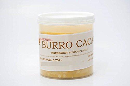 BURRO DI CACAO ALIMENTARE NATURALE 100% MADE ITALY 750 G