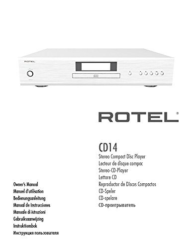 Rotel CD14 CD Player Owners Instruction Manual Reprint [Plastic Comb]