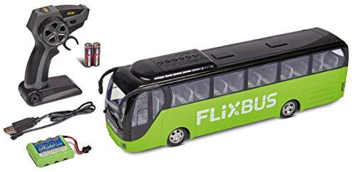 Carson 500907342 FlixBus 2.4GHz 100% fahrfertig, Spielzeugbus, Spielzeugauto, ferngesteuertes Auto, für Kinder ab 8 Jahren, Fahrzeit ca. 60 min, bunt