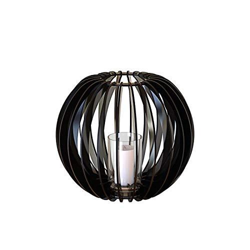 PREGIA Design Solutions theelichthouder, bol 40, zwart, methacrylaat, 40 x 40 x 34 cm