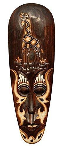 Schöne 50 cm Holz Wandmaske Giraffe Tier Afrika Maske 60