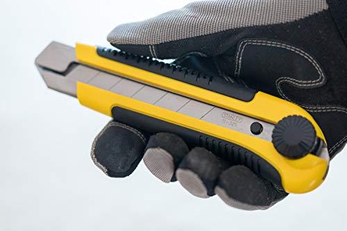 Stanley Cutter (25 mm, Klingenfixierung durch Gewindeschraube,DynaGrip-Handgriff aus Bi-Material) 1-10-425
