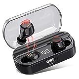VOOE Kopfhörer Kabellos Bluetooth 5.0, In Ear Auto Pairing TWS Mikrofon Ohrhörer Sport...