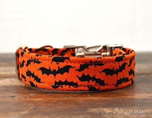 Collar Para Perro: Bat Time, Hecho a Mano en España por Wakakán: Amazon.es: Handmade