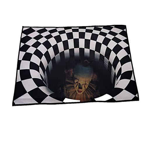 ZHAOXX Felpudo De Halloween, Felpudo con Ilusión De Vórtice, Felpudo De Terror Divertido, Alfombra De Entrada Antideslizante para El Hogar para Decoración De Fiesta De Halloween 50 * 80cm