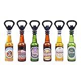 Asotagi Abridores de cerveza, 10 abrelatas de botella magnético con forma de botella de cerveza en forma de refrigerador abridor de imanes regalos para papá, novio marido