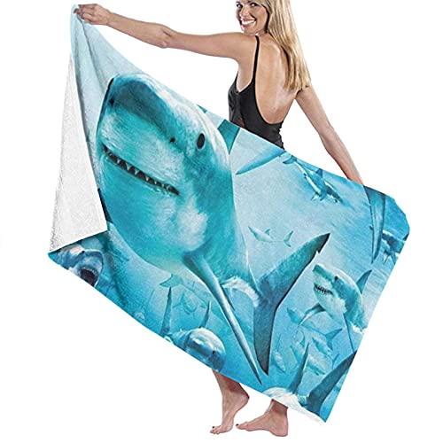 Toallas de baño Grandes,Tiburones Columpio,Toallas de Playa suavidad Toallas de multipropósito,80 x 130cm