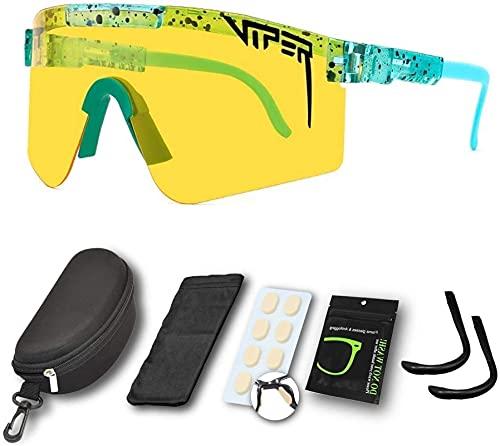 SQHGFFF Gafas de Sol polarizadas, Gafas de Ciclismo a Prueba de Viento para Deportes al Aire Libre UV400 Gafas de protección para Mujeres y Hombres Corriendo, béisbol, Pesca, Golf (Color : C29)