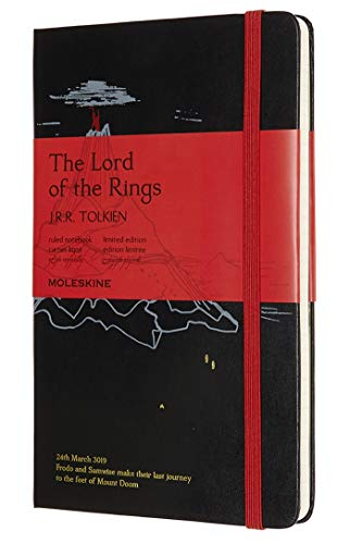 Moleskine The Lord of The Rings Limited Edition Notebook, Hard Cover, Closure With Elastic and Lined Pages, The Lord of The Rings, Large Size 13 x 21 cm, 240 Pages