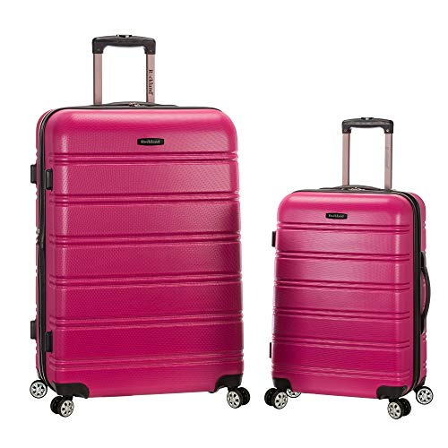 Rockland Melbourne Hardside Expandable Spinner Wheel Luggage, Magenta