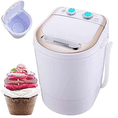 Chang Lavadora portátil, Mini Solo Barril de lavandería Lavadora y Secadora semiautomática 4,0 kg de Capacidad Superior con Secado rápido para el Inicio Apartamentos Domitorios,White