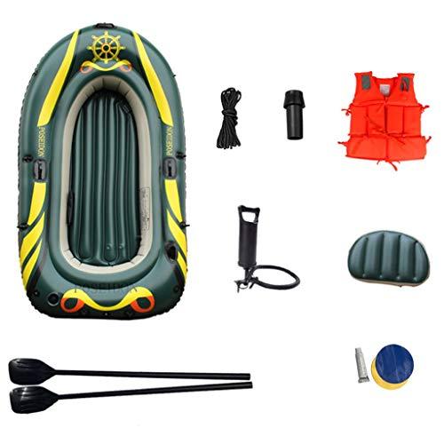 GUOE-YKGM Kayak 2-Personen-Schlauchboot-Ausflugsset Mit 2 Rudern Und Leistungsstarker Luftpumpe - Für Angler Und Freizeitsportler (Size : 2 People)