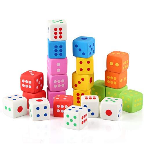 Kesote 24 Stück Radiergummi Würfel für Kinder Mitgebsel Geschenk Spielzeug Einschulung Schulanfang, Farbe Zufällig